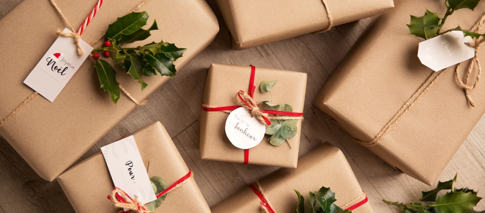 emballages cadeaux faits maison